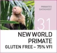 Корм для обезьян из Нового Света New World Primate Gluten Free – 75% VFI