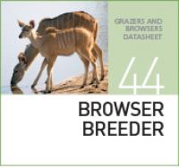 Корм для разведения травоядных животных BROWSER BREEDER
