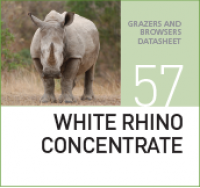 Специализированный корм для носорогов WHITE RHINO CONCENTRATE